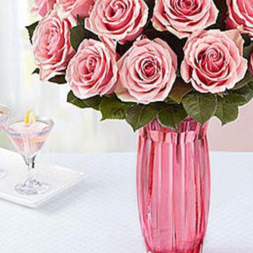 Pink Roses Bloom