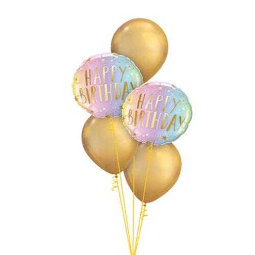 Pastel Birthday balloon bouquet