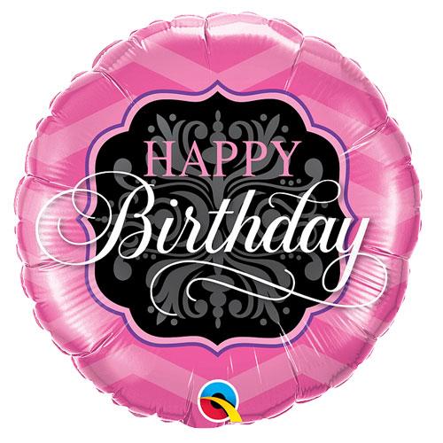 Black & Pink birthday balloon