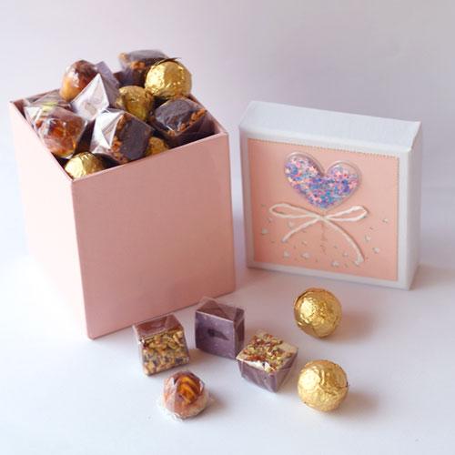 Choco box 250gm - Pink