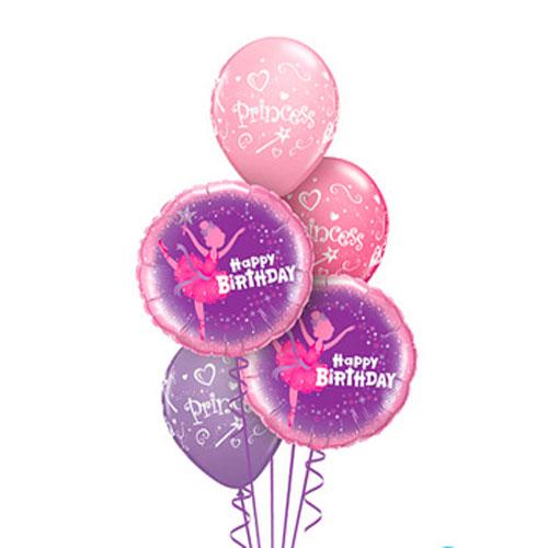 Princess birthday balloon bouquet