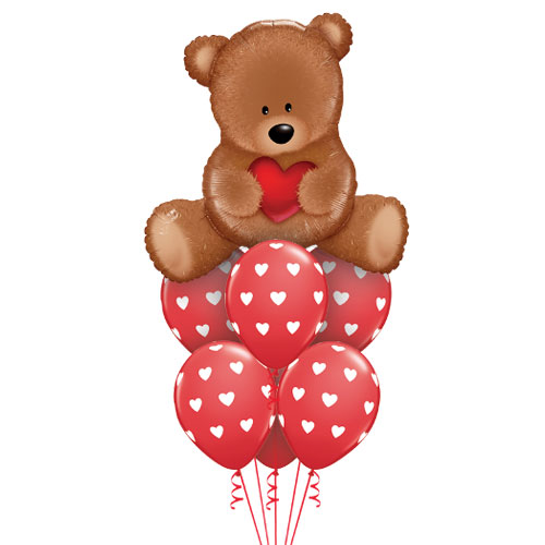 Balloon bouquet - Heart Teddy
