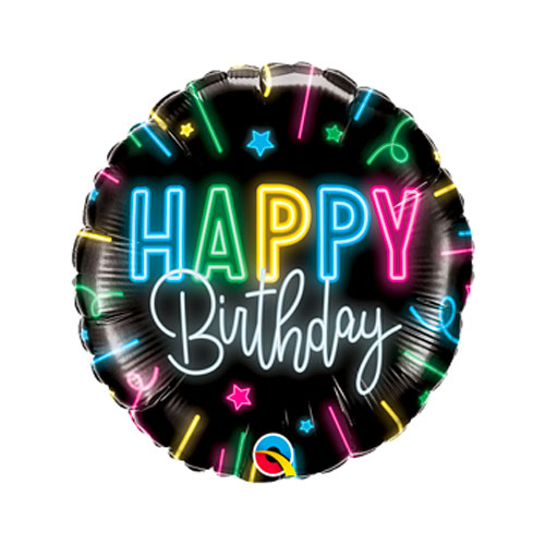 Neon Birthday Balloon