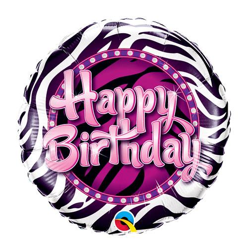 Zebra Pink stripes balloon