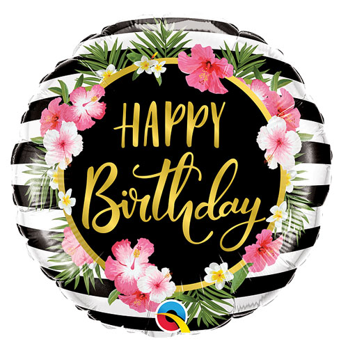 Birthday flower strips balloon